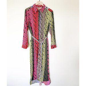New York & Company Colorblock Midi Shirt Dress